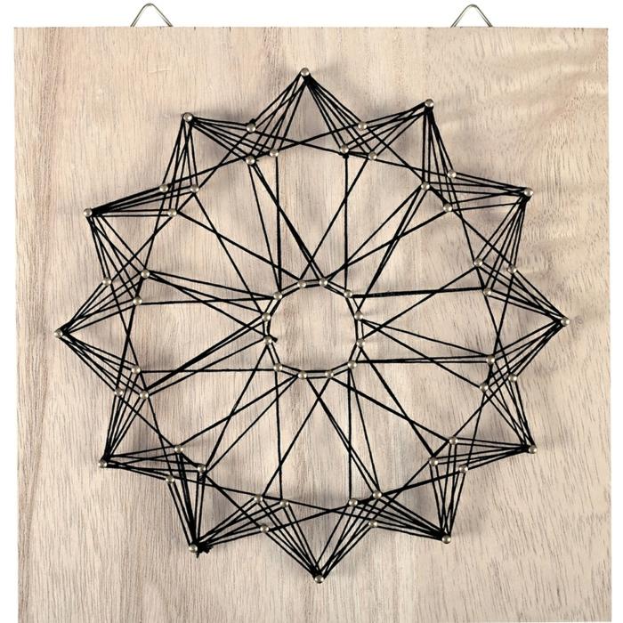 forme graphique diy tableau fil tendu