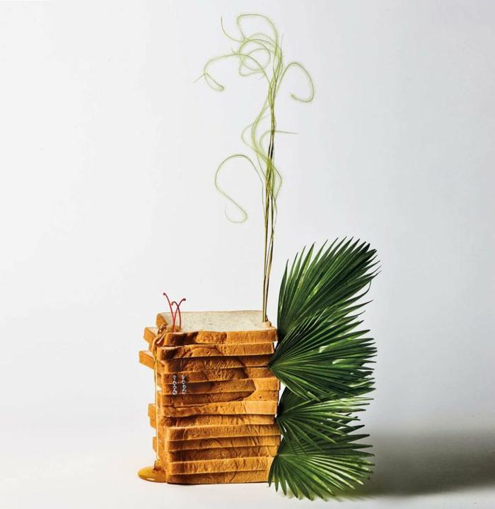 freakebana décoration tendance feuilles de palme