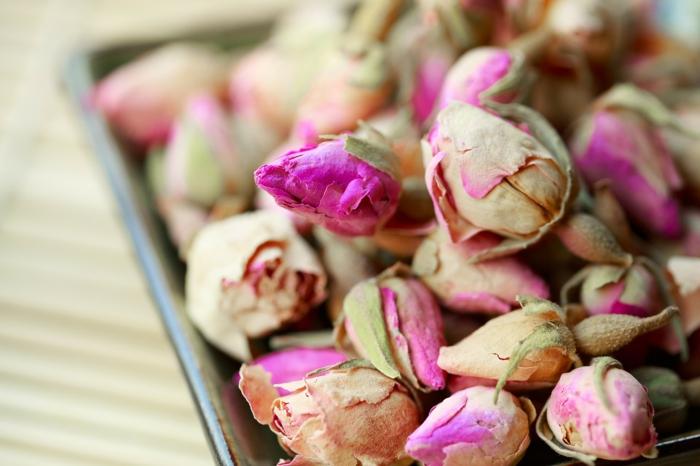 gel de silice sécher les roses