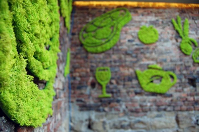 graffiti idées avec de la mousse végétale