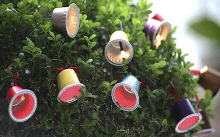 guirlande lumineuse diy en capsule café