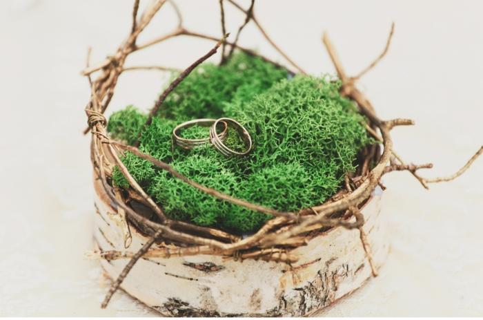 idée pour votre mariage mousse végétale