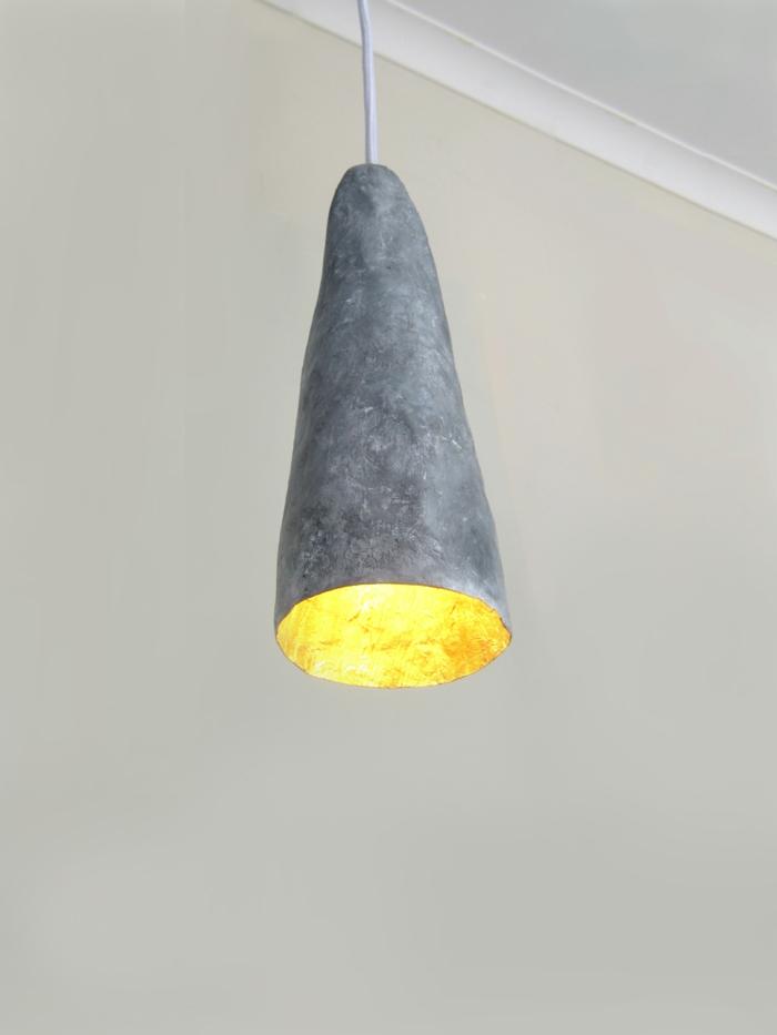idée tendance de lampe faire du papier mâché