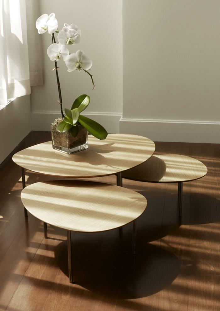 idées déco salon avec une table gigogne
