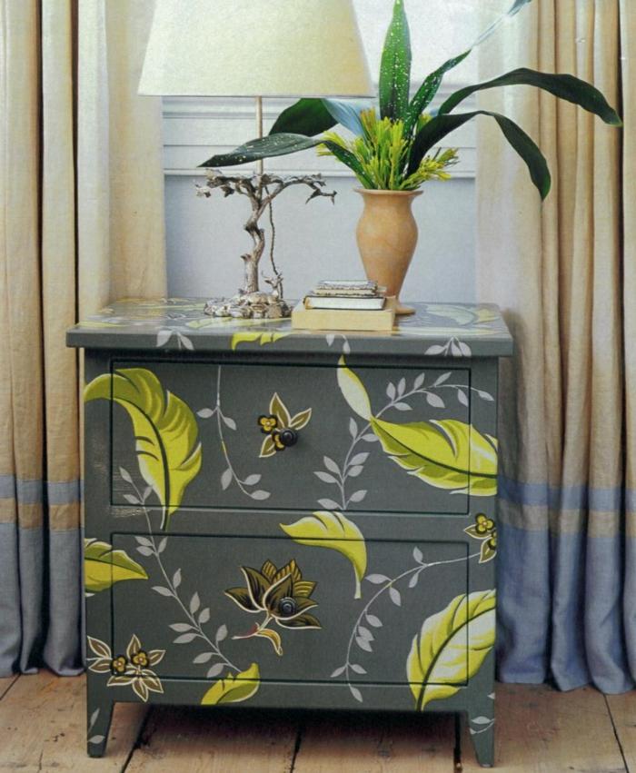 inspiration de meubles relookés diy découpage