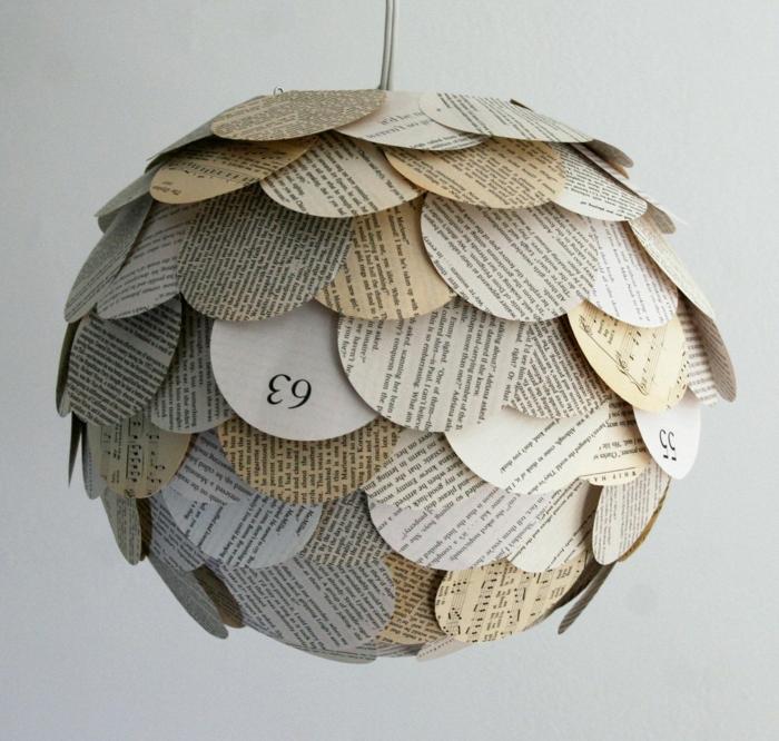 luminaire fait maison idée avec du papier