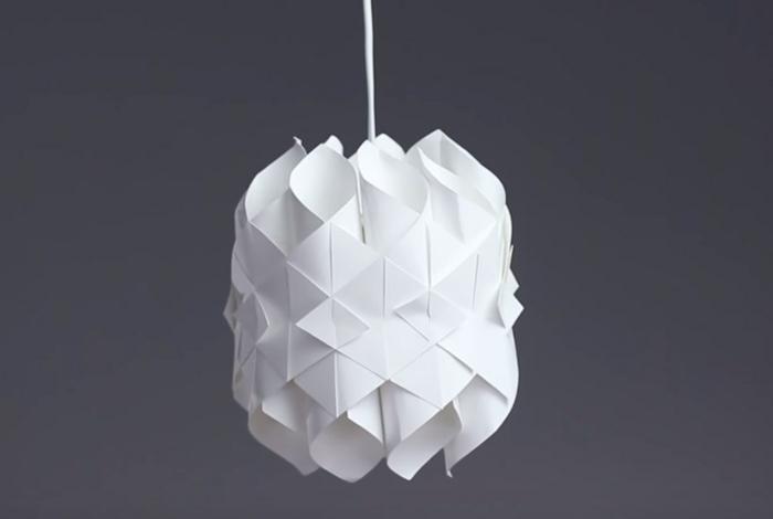 luminaire fait maison idée en papier