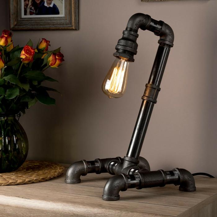 luminaire fait maison lampe de pipe à eau