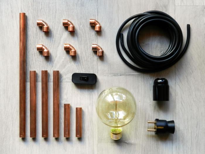 luminaire fait maison matériaux