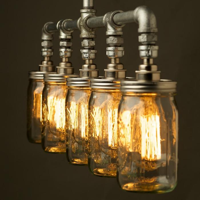 luminaire fait maison original et moderne