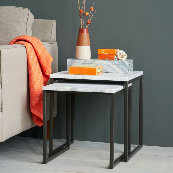 marbre table gigogne