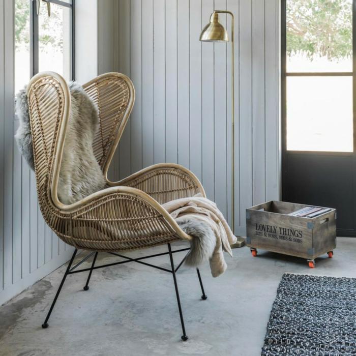 meuble en rotin confortable et tendance