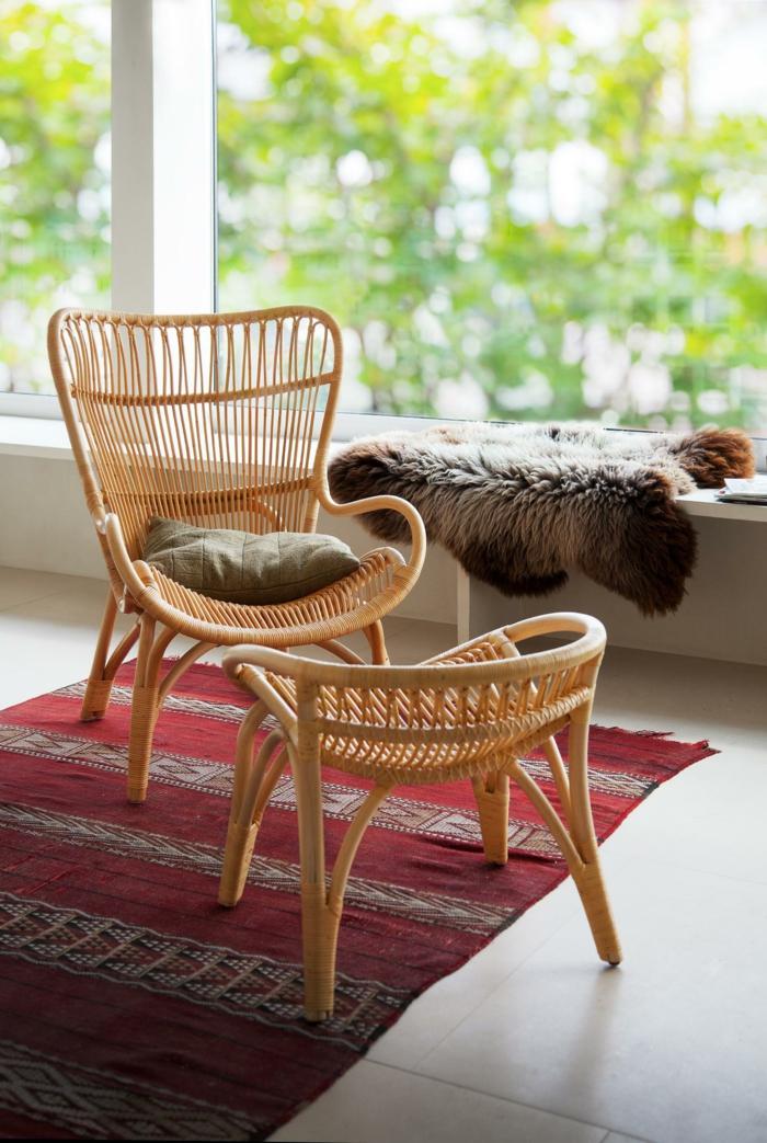 meuble en rotin idée pour la terrasse