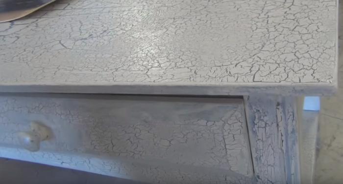meubles relookés peinture effet craquelé