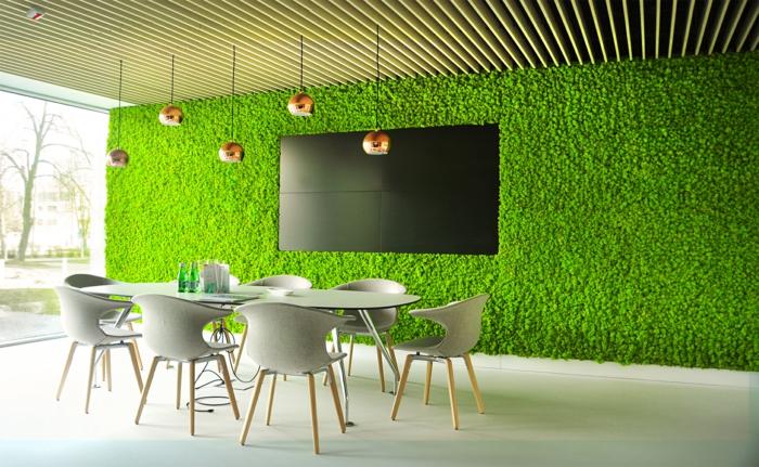 mousse végétale déco murale idée