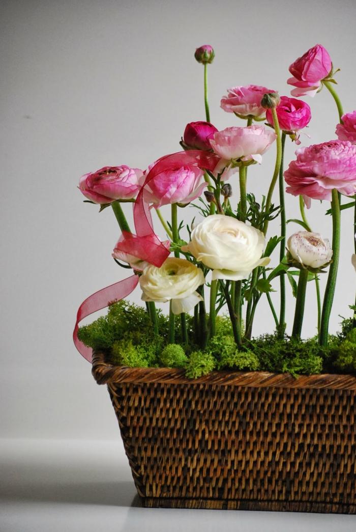 mousse végétale déco pot de fleurs