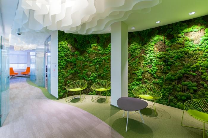 mousse végétale mur