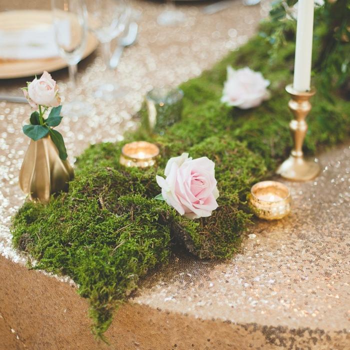 mousse végétale table mariage