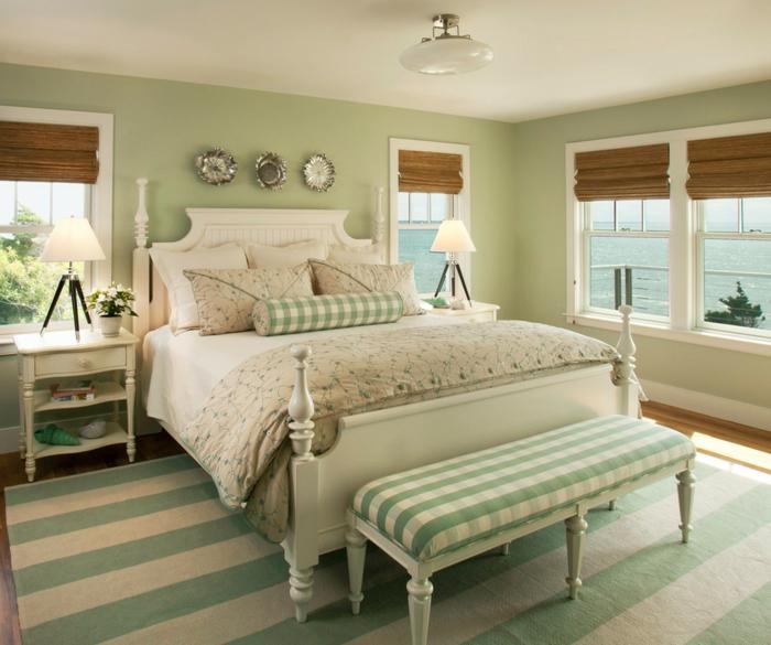 murs en couleur sauge chambre tendance