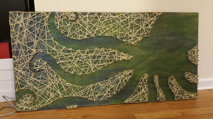 octopode string art tableau fil tendu