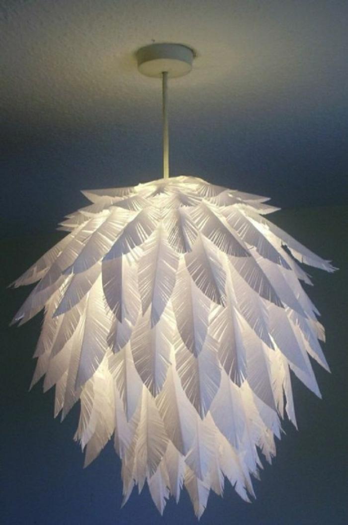 papier pour un luminaire fait maison