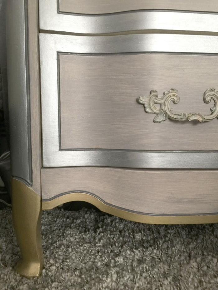 peinture effet métalique meubles relookés
