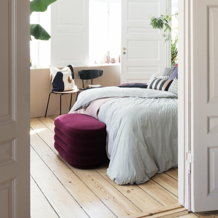 pouf pour un meuble bout de lit relaxant