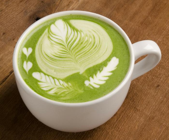 préparer latte utilisation thé matcha