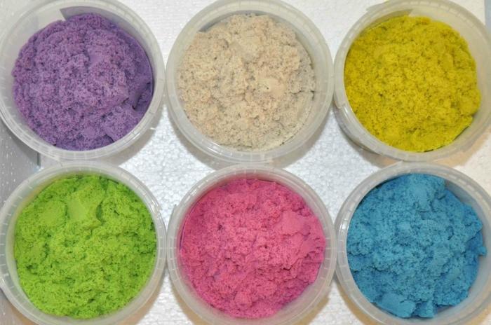 sable magique coloré