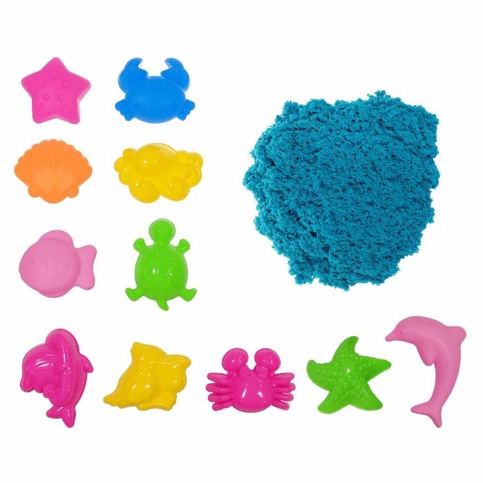 sable magique couleur bleu