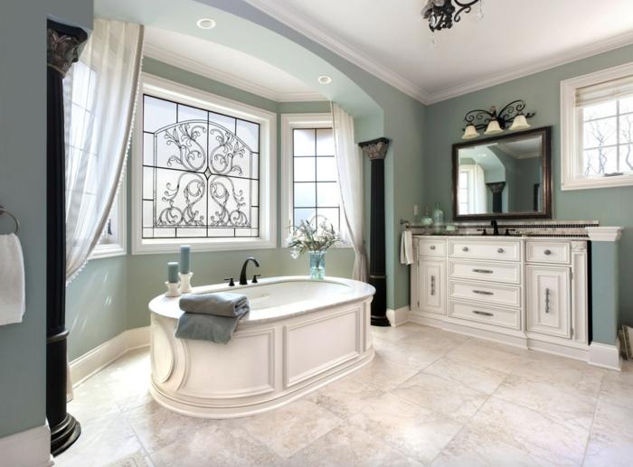 salle de bains tendance couleur sauge