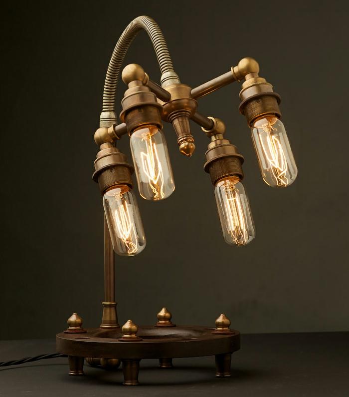 style industriel luminaire fait maison