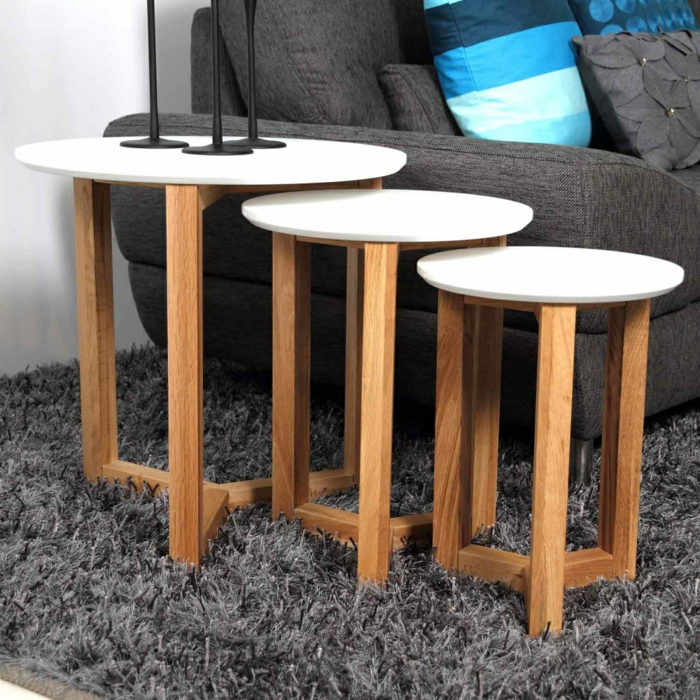 table gigogne proposition en bois