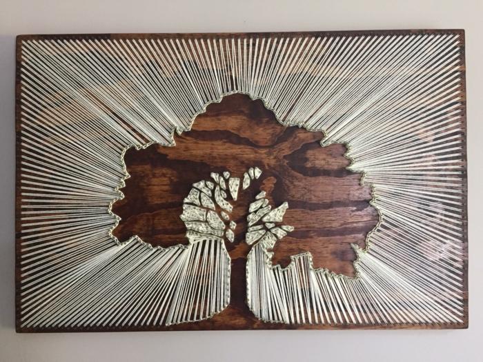 tableau fil tendu arbre diy