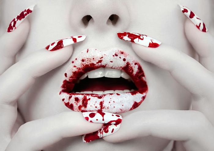 tendance beauté lip art halloween
