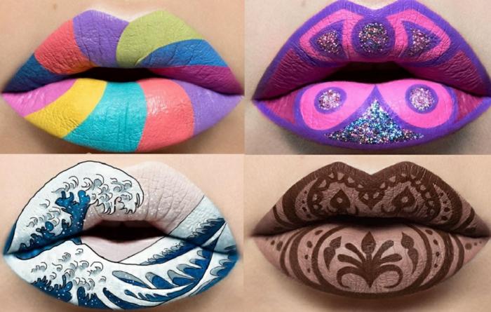 tendance beauté lip art idée