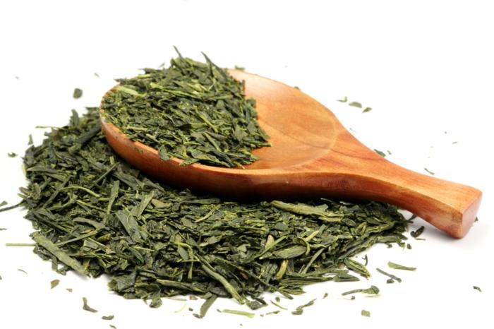 thé vert thé matcha feuilles
