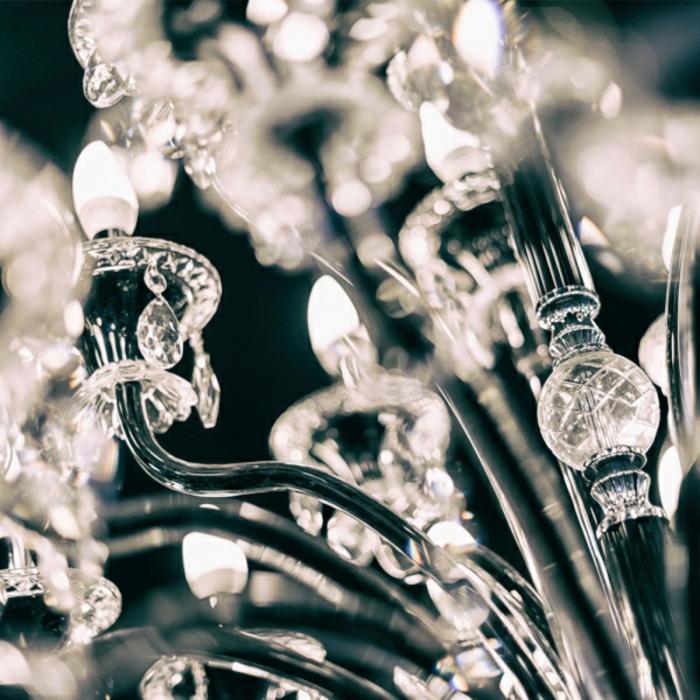 toujours indémodable lustre en cristal