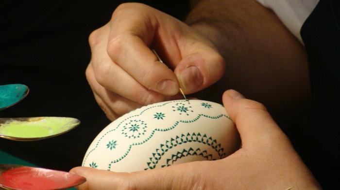œuf de pâques comment peindre