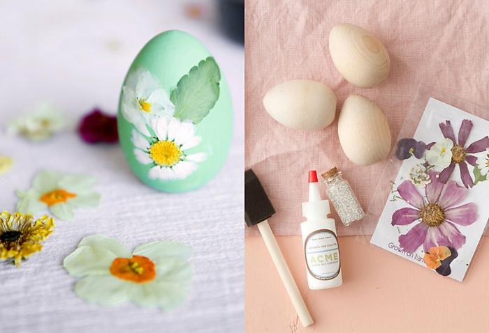 œuf de paques avec des fleurs