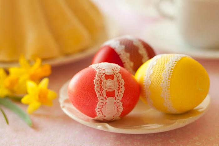 œuf de paques dentelle