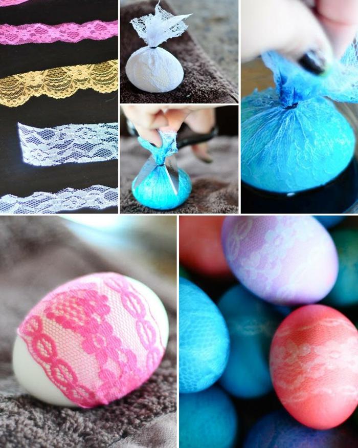 œuf de paques effet dentelle diy