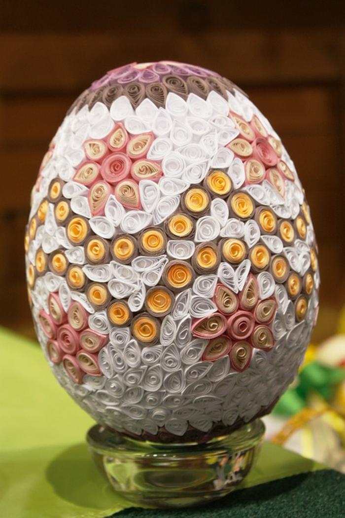 œuf de pâues idée avec du quilling