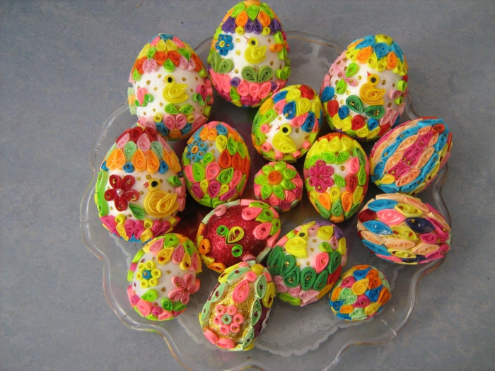 œuf de paques idée quiling