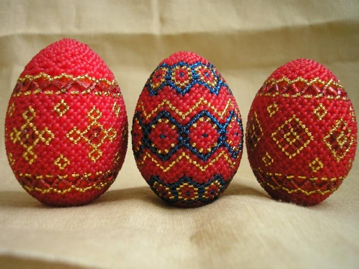 œuf de paques perles