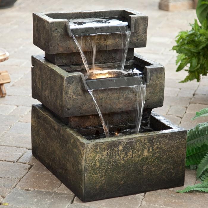 aménagement extérieur pour votre jardin avec une fontaine