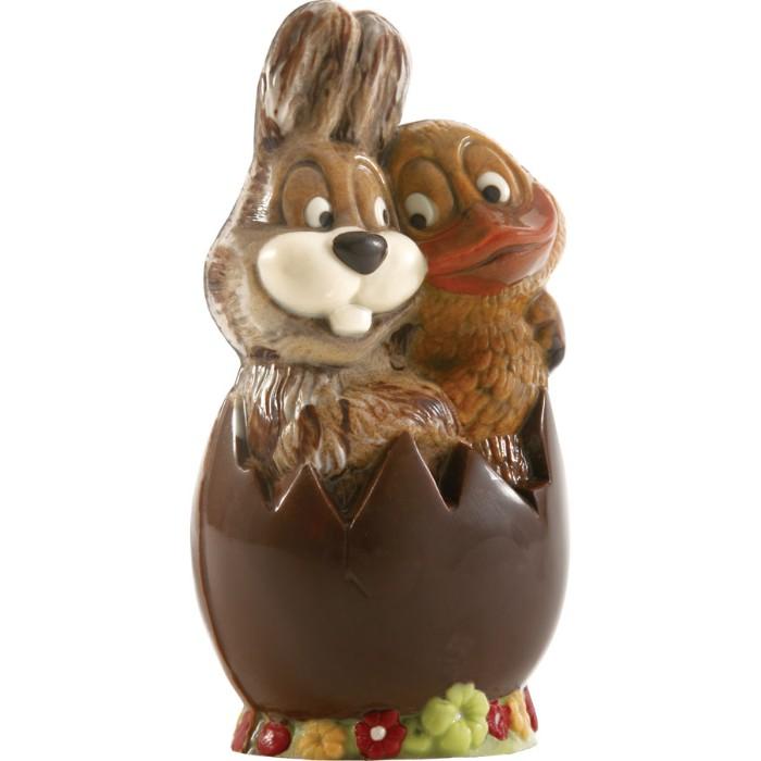 animaux en moule de chocolat déco de pâques