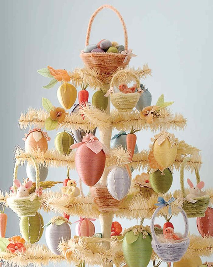arbre pâques à fabriquer déco de pâques