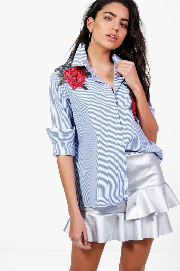 belle chemise femme rayures