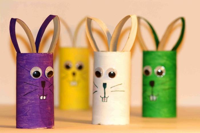 bricolage de Pâques comment faire un lapin
